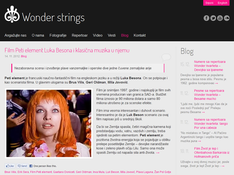 Wonder strings